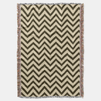 Chocolate Spice Moods Chevrons Throw Blanket