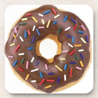 Chocolate Sprinkle Doughnut Drink Coaster