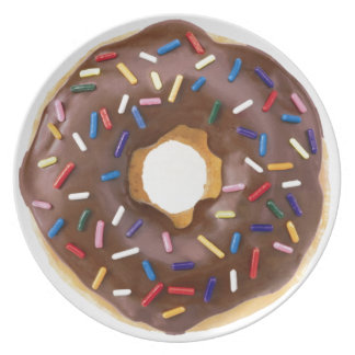 Chocolate Sprinkle Doughnut Plate