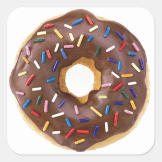 Chocolate Sprinkle Doughnut Square Sticker