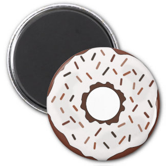 Chocolate Sprinkles Donut Magnet