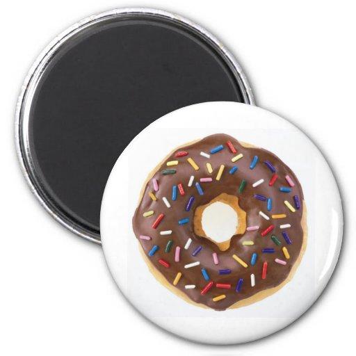 Chocolate Sprinkles Doughnut Magnets