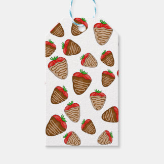 Chocolate strawberies pack of gift tags
