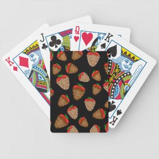 Chocolate strawberries pattern poker deck