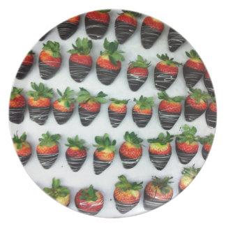 Chocolate Strawberries Plates