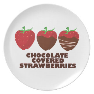 Chocolate Strawberries Party Plate