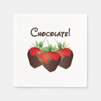 Chocolate Strawberry Disposable Napkins