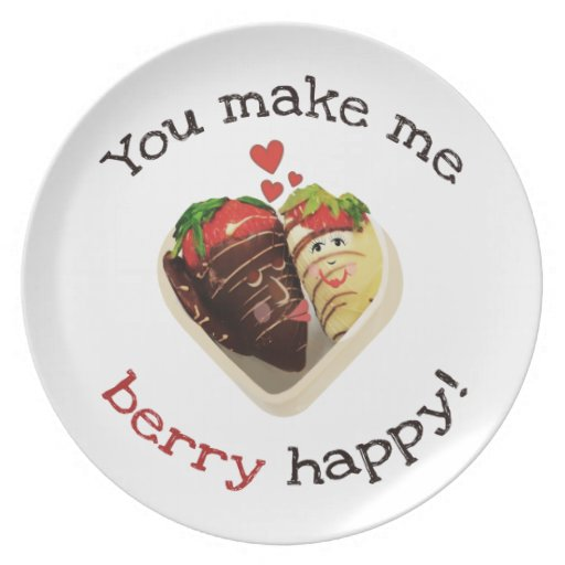 Chocolate & Strawberry Happy Couple Plate