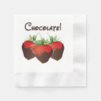 Chocolate Strawberry Love Disposable Napkin