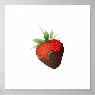 Chocolate Strawberry Print