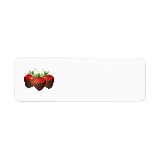 Chocolate Strawberry Return Address Label