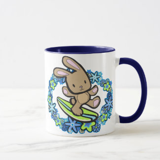 Chocolate Surfing  Bunny Mugs