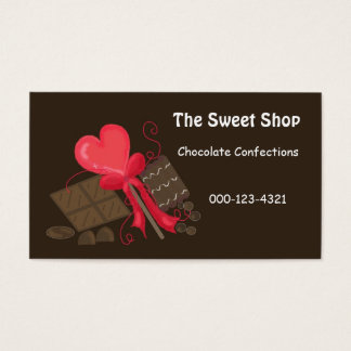 Chocolate Sweet Shop Business Card