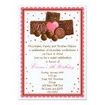 "Chocolate Sweet Shop Inivtations 5"" X 7"" Invitation Card"