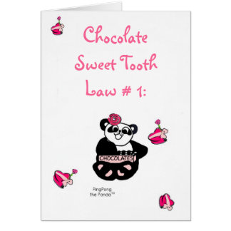 CHOCOLATE SWEET TOOTH LAW CARD