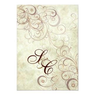Chocolate swirls/faux marble Wedding Invitations