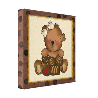 Chocolate Teddy Bear canvas Print
