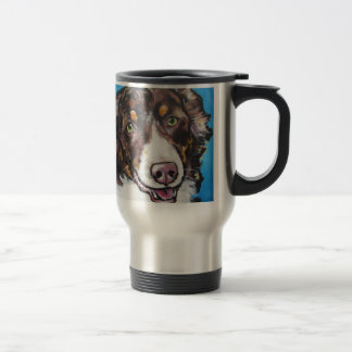 Chocolate Tri Australian Shepherd Travel Mug