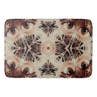 Chocolate Trippy Eyes Bathroom Mat