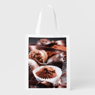 Chocolate truffles reusable grocery bags
