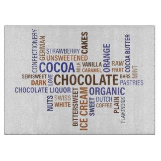 Chocolate Typography Cutting Board
