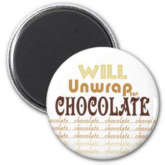 Chocolate Unwrap 2 Inch Round Magnet