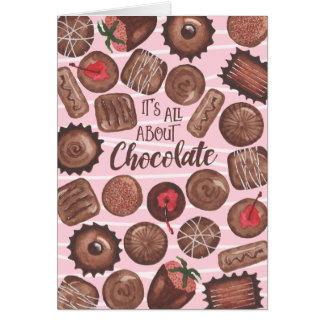 Chocolate -Valentine's Day Card -CUSTOMIZE