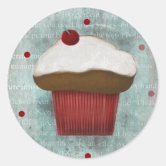 Chocolate vanilla cupcake stickers