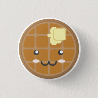 Chocolate Waffle 1 Inch Round Button