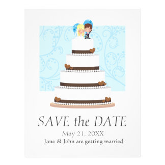 Chocolate Wedding Cake Flyers