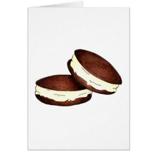 Chocolate Whoopie Pie Pies Dessert Foodie Card