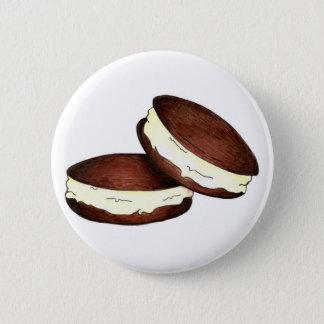 Chocolate Whoopie Pie Pies Maine PA Dutch Foodie 2 Inch Round Button