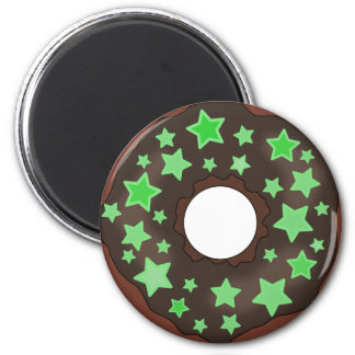 Chocolate with Star Sprinkles Donut Magnet