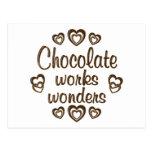 Chocolate Works Wonders Post Cards