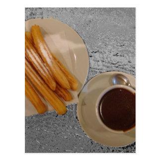 Chocolate y Churros Postcard