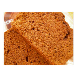 Chocolate zucchini bread postcard
