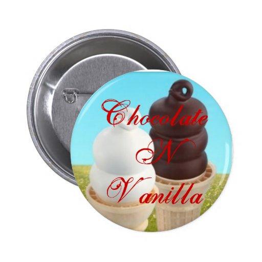 ChocolateNVanilla - Button ice cream