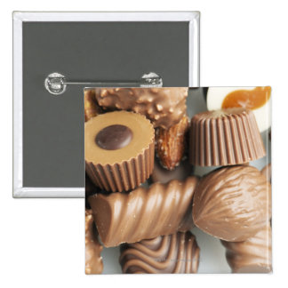 chocolates pinback buttons