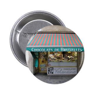 Chocolatier, Brussels, Belgium Pinback Button