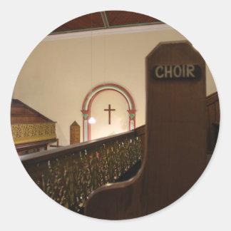 choir bench round sticker