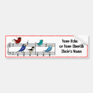 Choir Birds Bumper Sticker