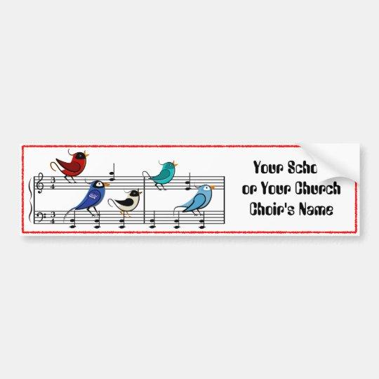 Choir Birds Bumper Sticker