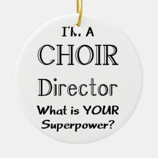 Choir director ceramic ornament