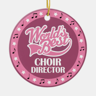 Choir Director Gift For Her Ceramic Ornament