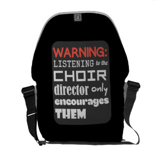 Choir Music Humor Messenger Bag