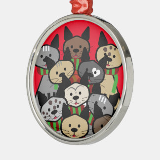 Choir of Christmas Cats Metal Ornament