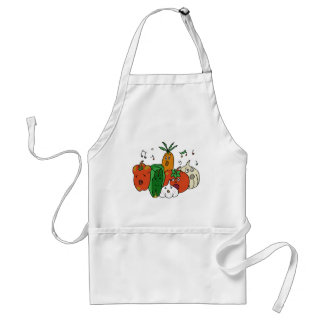 Choir of vegetables standard apron