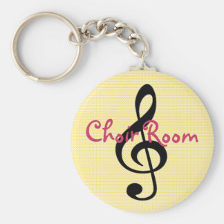 Choir or Band Room Bathroom Keychain