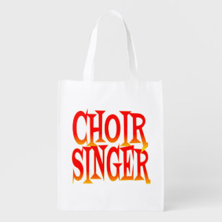 Choir Singer in Bright Colors Reusable Grocery Bag