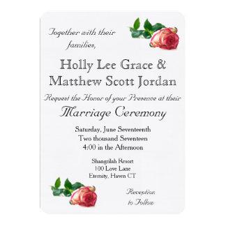 Choisissez la toile rose w/envelope - carton d'invitation  12,7 cm x 17,78 cm